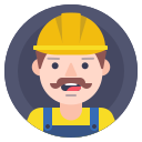 builder, helmet, worker icon