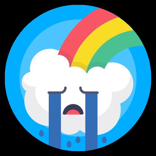 avatar, cloud, crying, rain icon