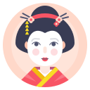 avatar, geisha, japanese, woman icon
