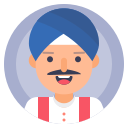 indian, man, sikh, turban icon
