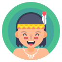 kid, native, indian, boy icon