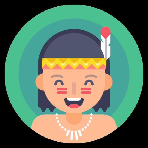 boy, indian, kid, native icon