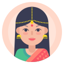 avatar, hindi, indian, woman icon