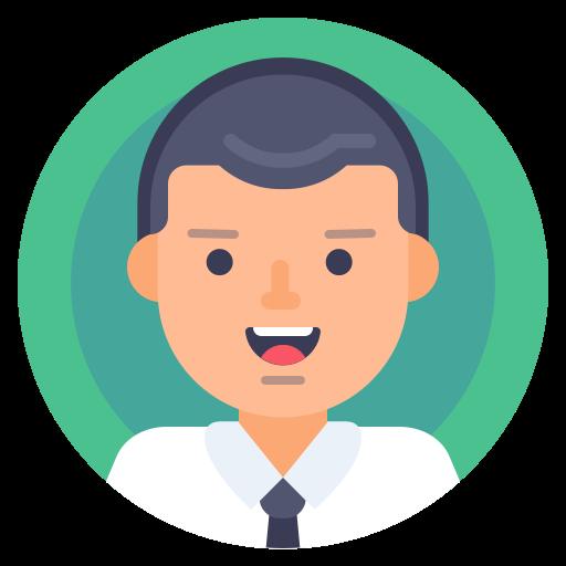 avatar, male, man, portrait icon