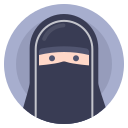 avatar, muslim, paranja, woman icon