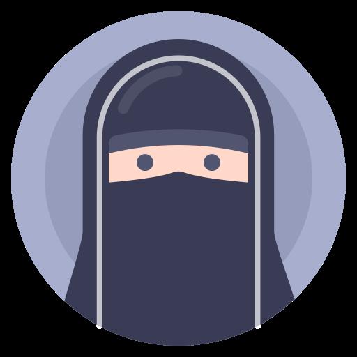 avatar, muslim, paranja, woman icon
