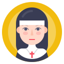 avatar, nun, sister, woman icon