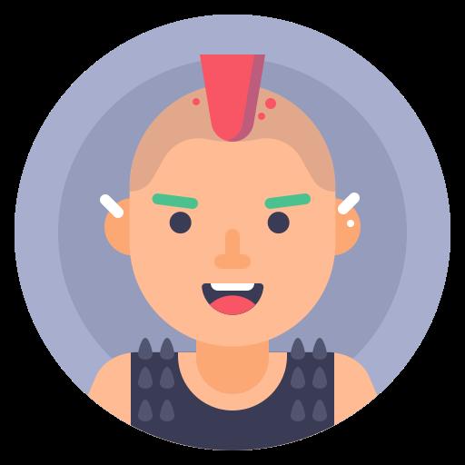 avatar, man, person, punk icon