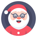 christmas, clous, santa icon