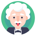 avatar, einstein, professor, scientist icon
