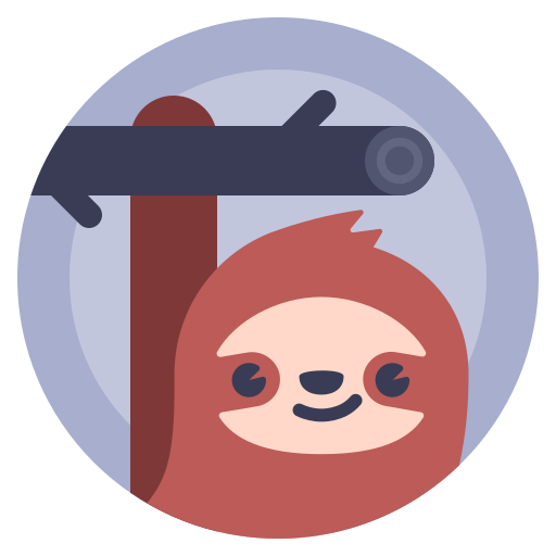 avatar, lazybones, sloth, sluggard icon