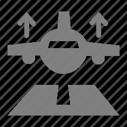 aeroplane, aircraft, airport, aviation, plane, takeoff icon