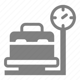 airport, aviation, meter, scales, weight icon