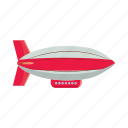 air, airship, balloon, blog, cartoon, fly, retro icon