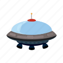 blog, cartoon, flying, saucer, spacecraft, spaceship, ufo icon