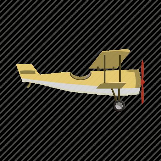airplane, biplane, blog, cartoon, plane, propeller, vintage icon