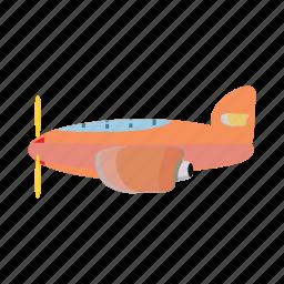 aircraft, airplane, blog, cartoon, orange, plane, travel icon