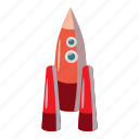 blog, cartoon, launch, rocket, ship, spaceship, technology icon