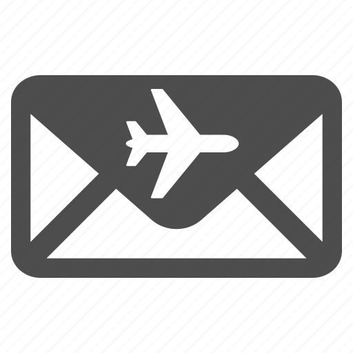 air mail, airmail, communication, email, envelope, letter, send icon