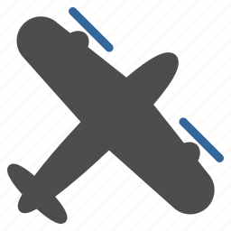 aircraft, airplane, plane, screw aeroplane, transport, transportation, travel icon
