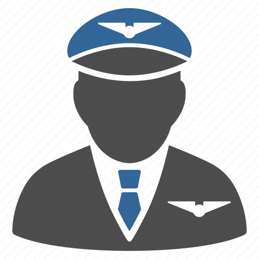 airman, captain, conductor, crew, navigator, pilot, steward icon