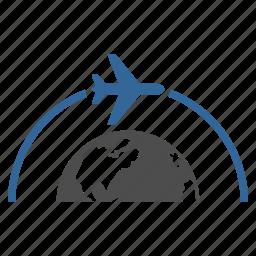 airplane, fly, oversea flight, plane, transport, transportation, travel icon