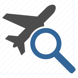 airplane, explorer, find, flight, plane, search, travel icon