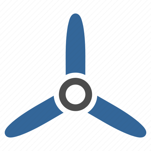 cooler, fan, propeller, rotation, rotor, three bladed screw, turbine icon