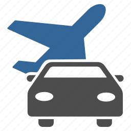 aircraft, airplane, car, plane, transport, transportation, travel icon