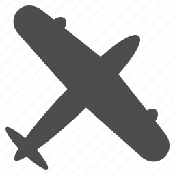 aircraft, airplane, plane, screw aeroplane, transport, transportation, travel icon