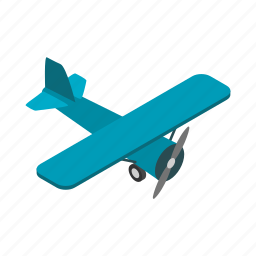 aircraft, fly, isometric, light, plane, sky, travel icon