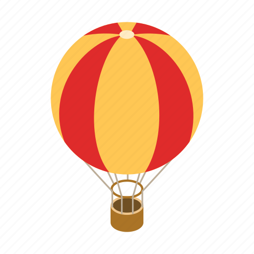 air, balloon, design, fun, hot, isometric, sky icon