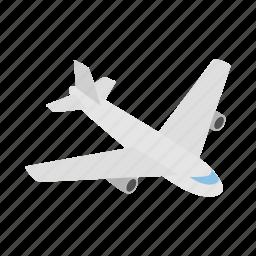 air, flight, fly, isometric, plane, sky, travel icon