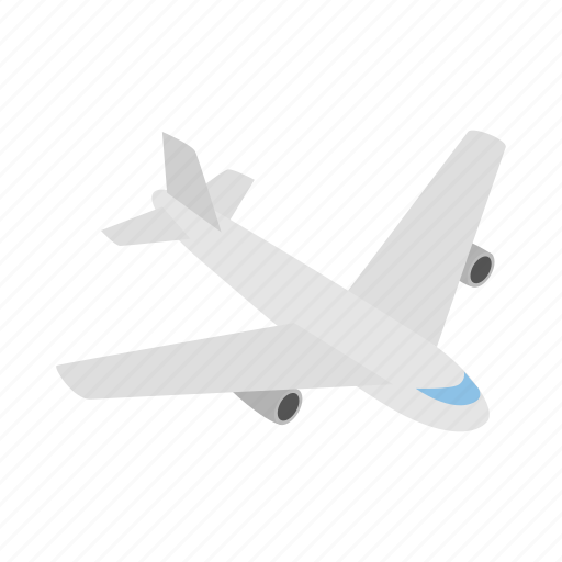 air, flight, fly, isometric, plane, sky, travel icon