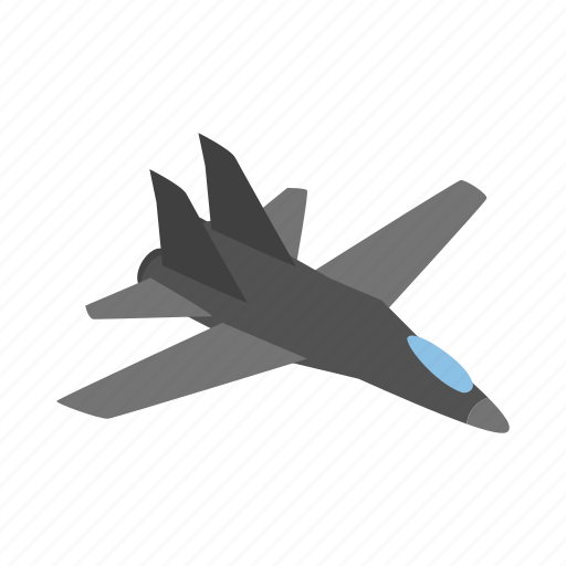 aircraft, fly, isometric, military, plane, travel icon