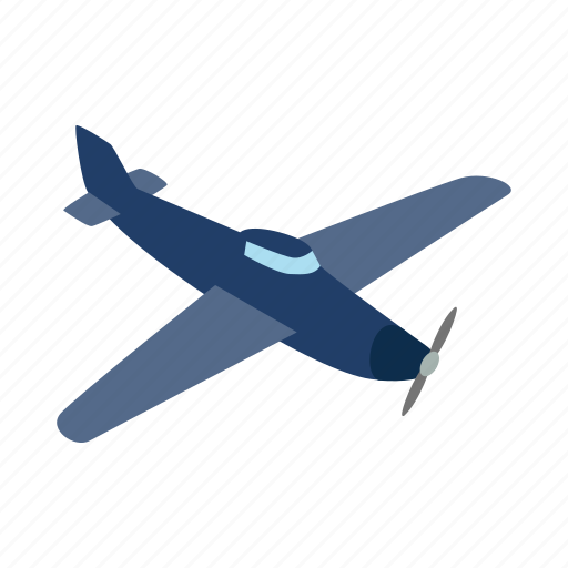 air, blue, fly, isometric, plane, sky, travel icon