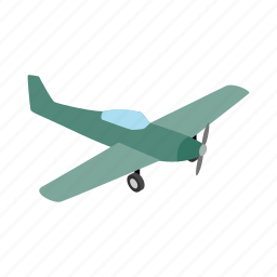 air, fly, isometric, plane, sky, small, travel icon