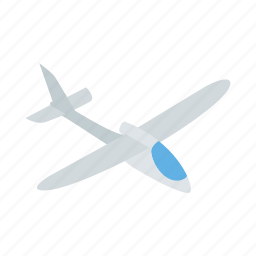 air, fly, grey, isometric, plane, sky, travel icon
