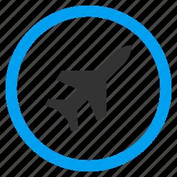 aeroplane, aircraft, airplane, plane, transport, transportation, travel icon