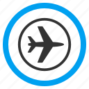 aeroport, air plane, aircraft, airplane, airport, aviation, transportation icon