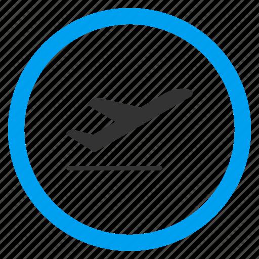 airplane, departure, emigration, flight, start, take off, takeoff icon