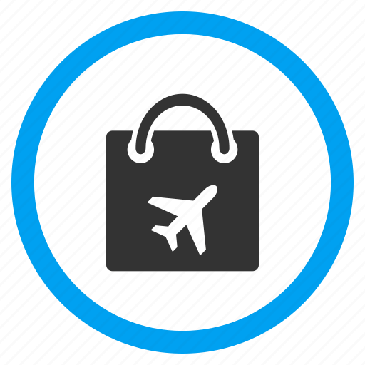 bag, basket, buy, duty free, package, sales, shopping icon