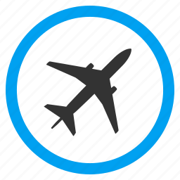 aircraft, airlines, airplane, airport, aviation, flight, jet plane icon
