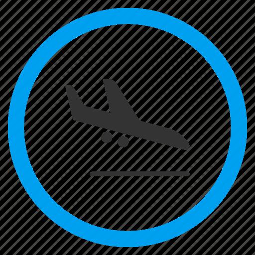 aeroplane, air plane, arrival, arrive, descend, descending airplane, landing aircraft icon