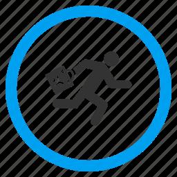 boarding, deadline, hire, late passenger, run, running man, urgent icon