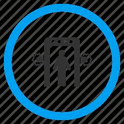 anti terror, boarding, inspection, passenger control, security screening, terrorist, test frame icon