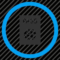 id document, identification, identity, pass, passport, permit, visa icon