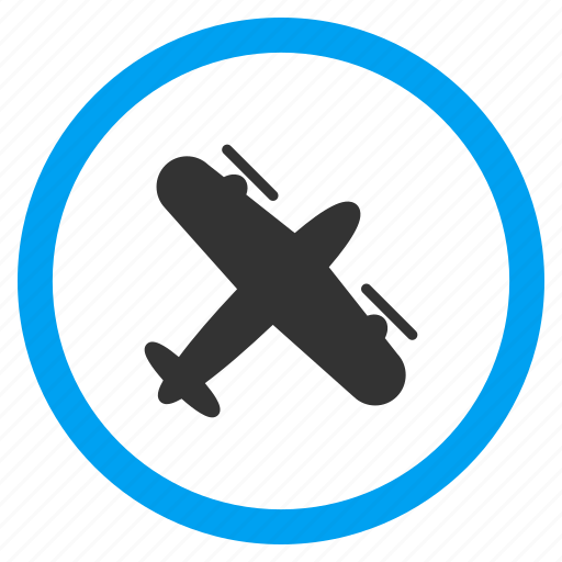 air plane, airplane, airport, aviation, flight, propeller aircraft, vehicle icon