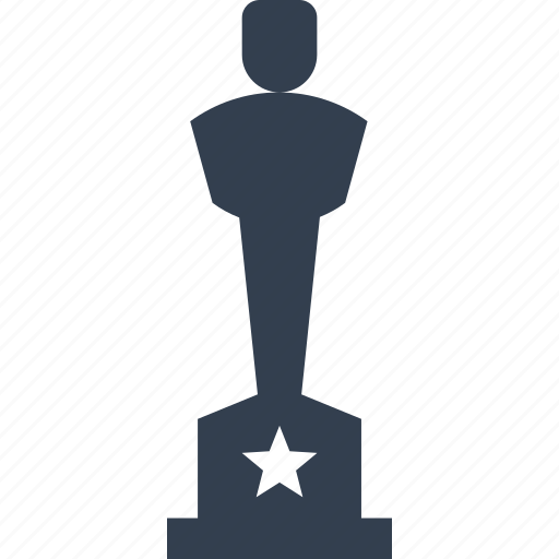 achievement, award, cup, film, first place, movie, prize, star, trophy, winner icon