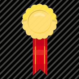 achievement, award, cartoon, first, gold, victory, winner icon